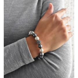 Perlový náramek šedý 33060.3