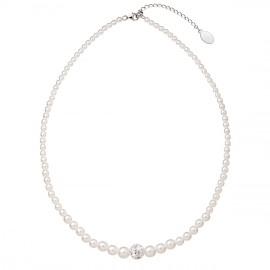 Perlový náhrdelník bílý 32006.1