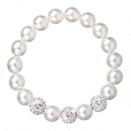 Perlový náramek bílý 33057.1
