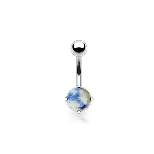 Piercing do pupíku - lapis lazuli