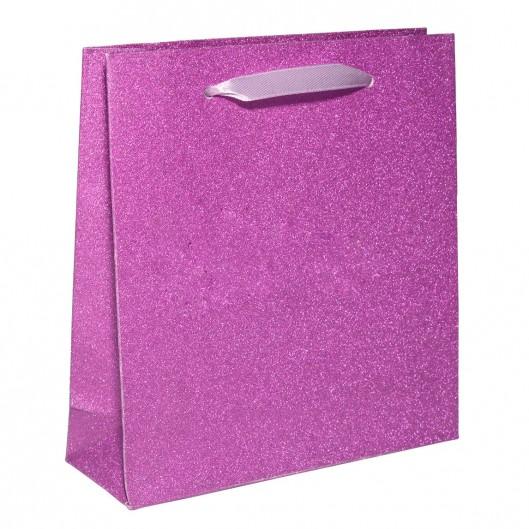 Papírová dárková taška růžová