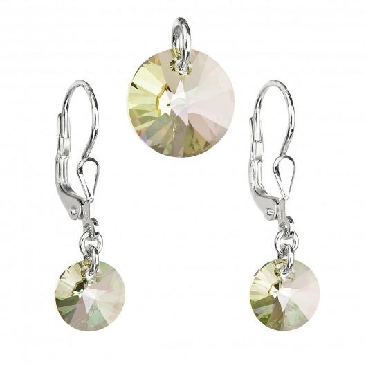 Sada šperků s krystaly Swarovski náušnice a přívěsek zlaté kulaté 39090.6