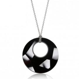 Náhrdelník Victory s kamenem Crystals From Swarovski®, BLACK JET