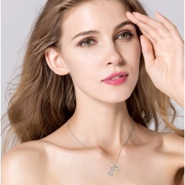 Stříbrný náhrdelník pejsek, kost a tlapka