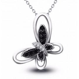 Stříbrný náhrdelník motýl