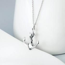 Stříbrný náhrdelník námořnická kotva