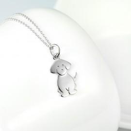 Stříbrný náhrdelník pejsek