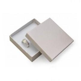 Dárková krabička na soupravu šperků - stříbřitá