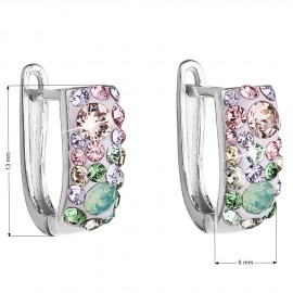 Stříbrné náušnice s krystaly Crystals from Swarovski®, Sakura