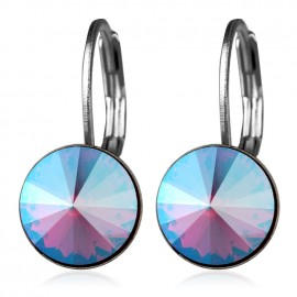 Ocelové náušnice s krystaly Swarovski®, SAPPHIRE SHIMMER