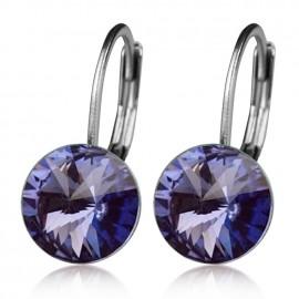 Ocelové náušnice s krystaly Swarovski®, TANZANITE