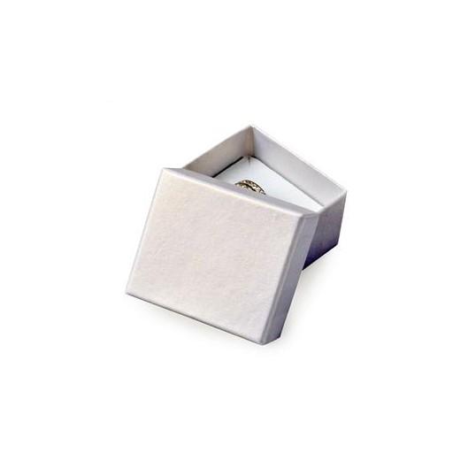 Malá dárková krabička na prsten stříbřitá
