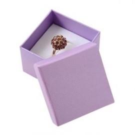Malá dárková krabička na prsten fialová