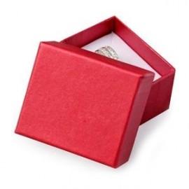 Malá dárková krabička na prsten červená