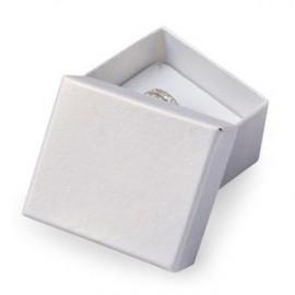 Dárková krabička na prsten nebo náušnice bílá
