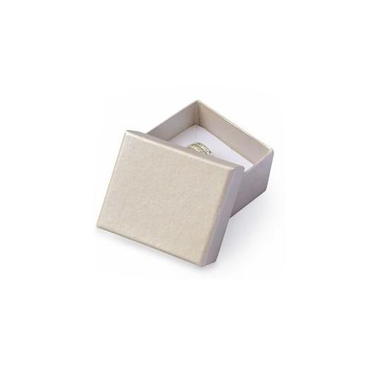 Malá dárková krabička na prsten smetanová