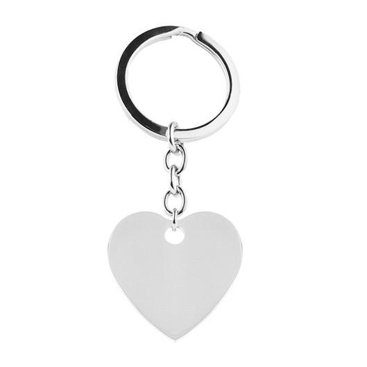 Ocelový přívěšek na klíče - srdce