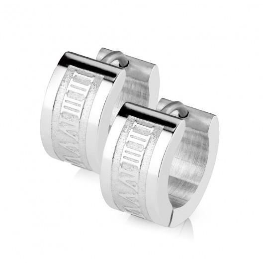 Ocelové náušnice - kroužky