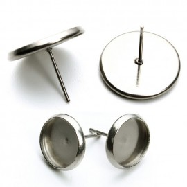 Ocelové náušnicové lůžko 10 mm - puzeta