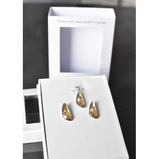 Sada šperků s krystaly Swarovski náušnice a přívěsek zlaté 79022.5