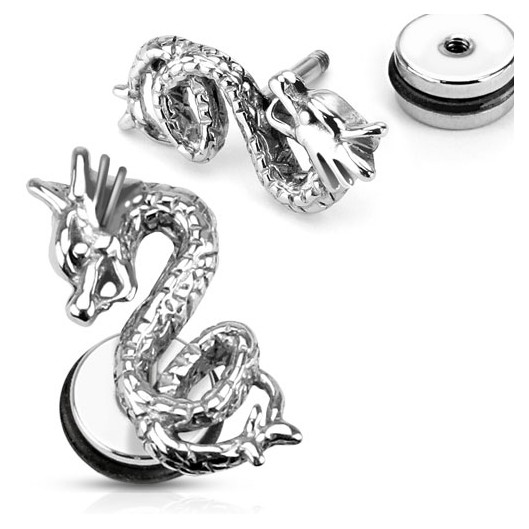 Falešný piercing do ucha - had