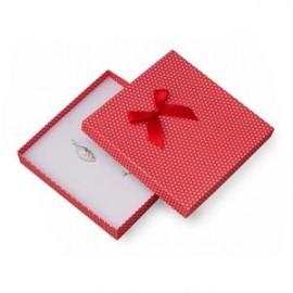 Velká krabička na soupravu šperků červené, bílé puntíky