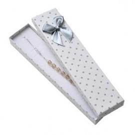 Dárková krabička na náramek bílá, šedé puntíky