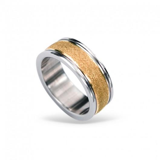 Prsten chirurgická ocel RSS424 rose gold