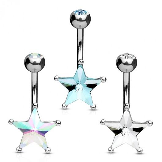 Piercing do pupíku hvězda