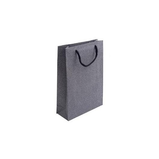 Velká dárková taška stříbřitě šedá