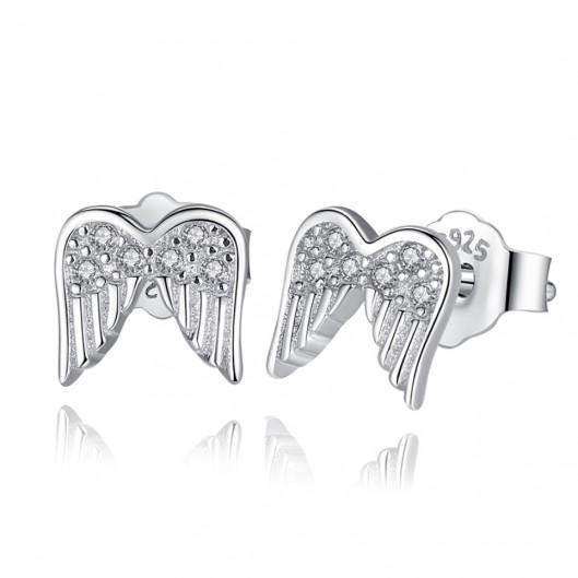 Stříbrné náušnice andělská křídla