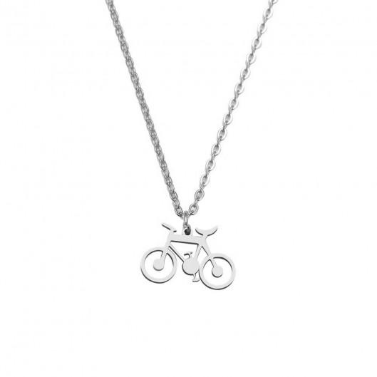 Ocelový náhrdelník přívěškem jízdní kolo