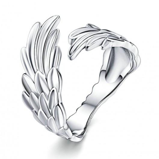 Stříbrný prsten andělská křídla
