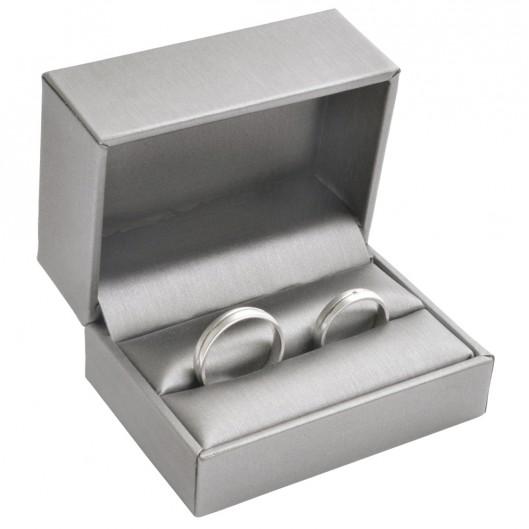Dárková krabička na snubní prsteny, kovově šedá