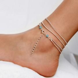 Stříbřený řetízek na nohu