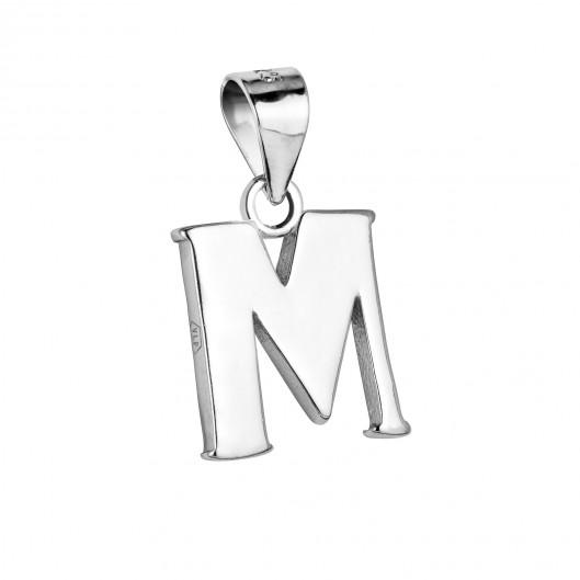 """Stříbrný přívěšek - písmeno """"M"""""""
