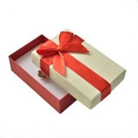 Krabička na soupravu šperků, červená mašle