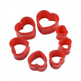 Červený akrylátový tunel srdce