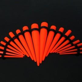 Akrylátový roztahovák do ucha oranžový