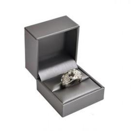 Dárková krabička na prsten, kovově šedá