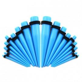 Akrylátový roztahovák do ucha světle modrý