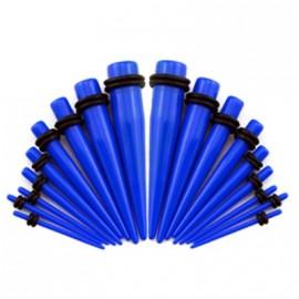 Akrylátový roztahovák do ucha modrý