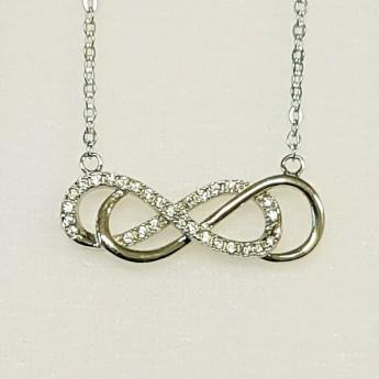 Stříbrný náhrdelník - dvojité nekonečno
