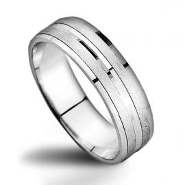 Stříbrný prsten, šíře 5 mm, vel. 61