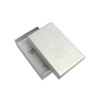 Krabička na soupravu šperků - stříbrná