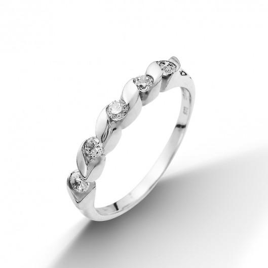 Luxusni stribrny prsten osazeny zirkony  dae3bd66dbc
