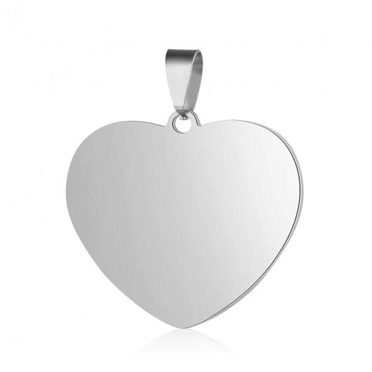 Ocelový přívěšek srdce 25 x 23 mm