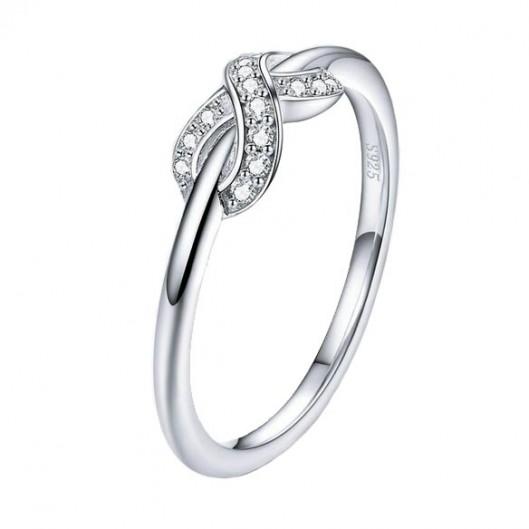 Stříbrný prsten nekonečno, vel. 52