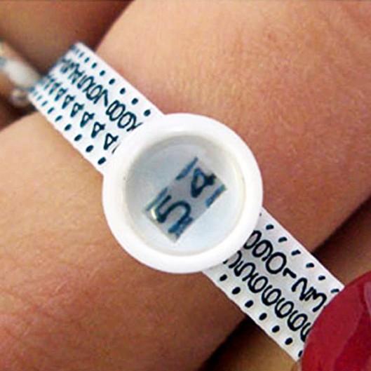 Jak si co nejpřesněji změřit velikosti prstenů - měřící kroužek