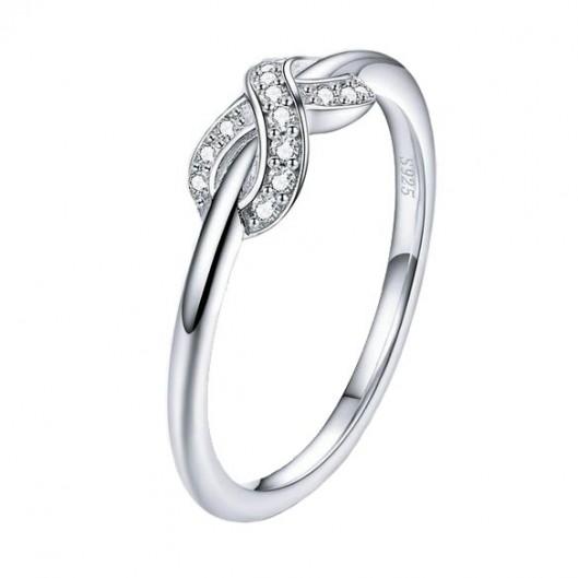 Stříbrný prsten nekonečno, vel. 51